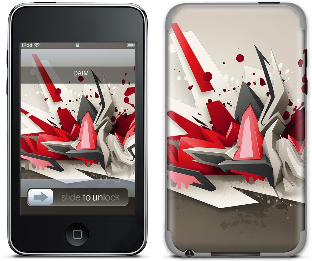 Red Metal iPod Skin