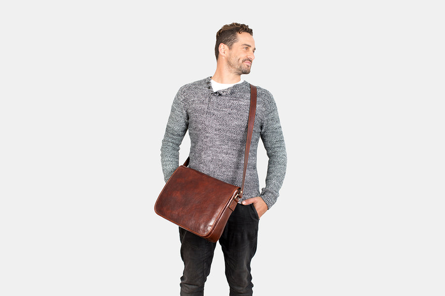 Julius Brown - Leather Messenger Bag