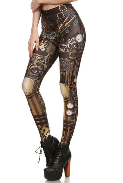 Steampunk Machine Fashion Leggings