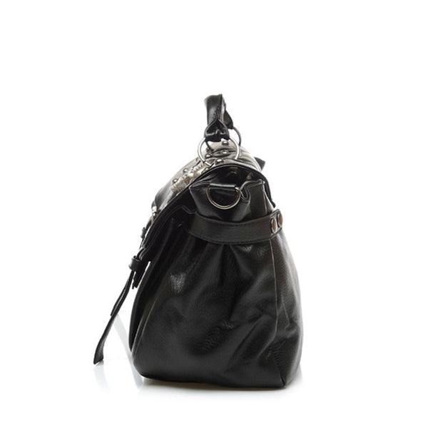Leather Skull Women's Moto Bag