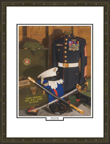 """Esprit De Corps"" Personalized  Marine Corps Art For Staff NCOs"