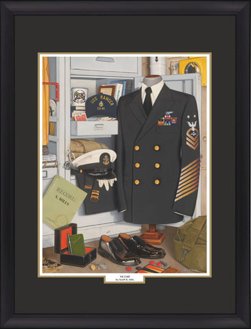 """The Chief"" Personalized Navy Art"