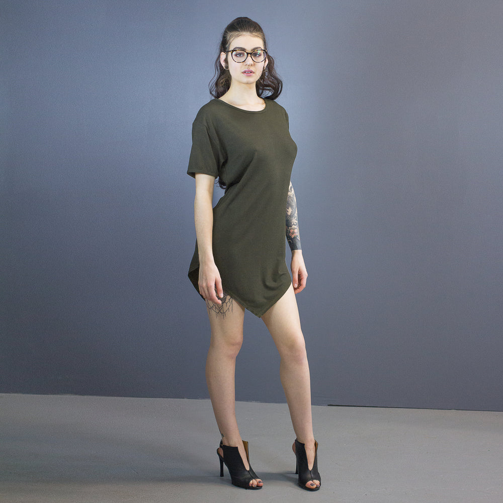 Dakota pointed hem mini dress