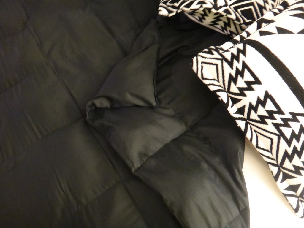 Green Leather Look Full Size Weighted Blanket - Lifetime Sensory Solutions