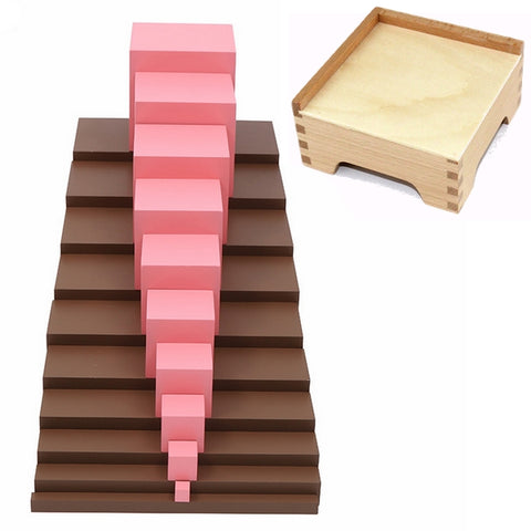 Pink Tower and Brown Stairs Set