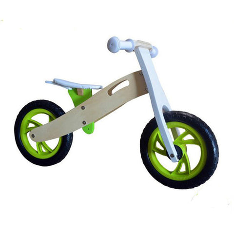 Educational Wooden Balance Bike 12""