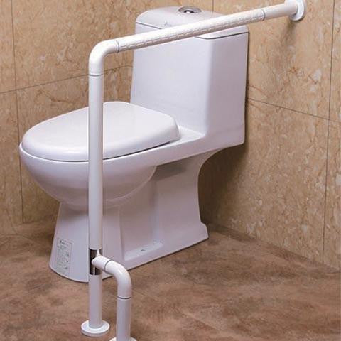 Safe Bathroom Kit I (300mm Grab Bar+75cm Grab Bar w/floor support+EasyPotty+Elevated Seat)