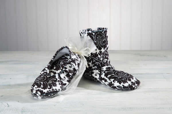 Black & White Booties, Footies & Mittens