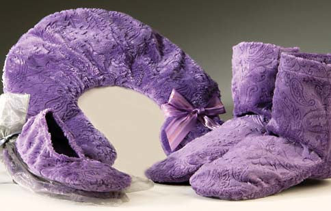 Sonoma Lavender Embossed Paisley Heated Footies