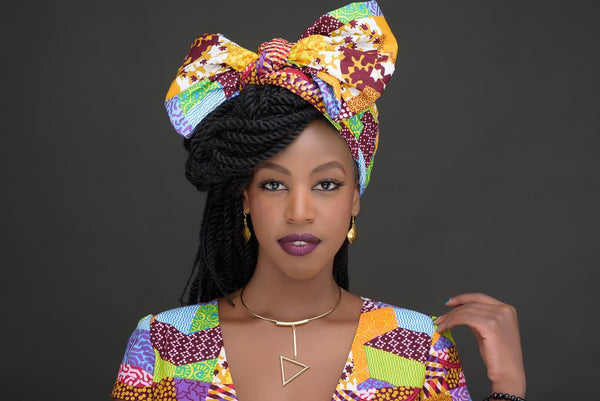 African Print Headwrap Styles you can Rock this Holiday