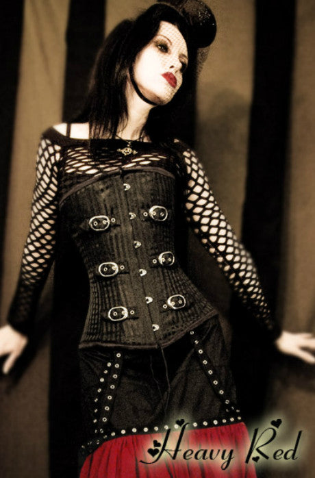 Misery's Striation Buckle Corset