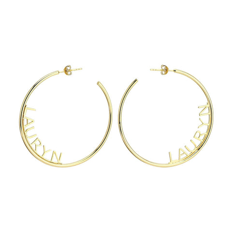 Custom Name Hoop Earrings