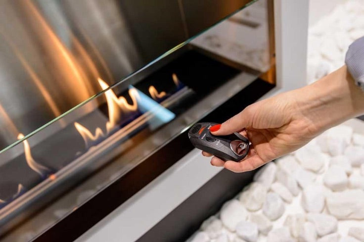 ethanol fireplace with automatic remote start