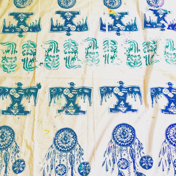 Mystic handprinted Table Cloth