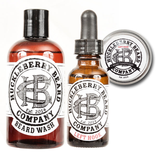Huckleberry Beard Company - High Roller Beard Bundle With Peppermint Wash