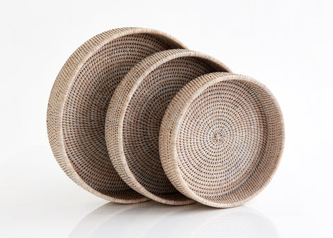 Small Round Trays Set of 3