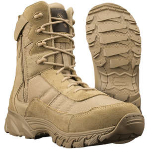 "Altama Vengeance SR 8"" Tan Side Zip Boot - WarriorInc Tactical Gear"