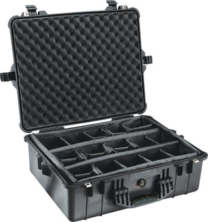 Pelican 1600 Case Black - WarriorInc Tactical Gear