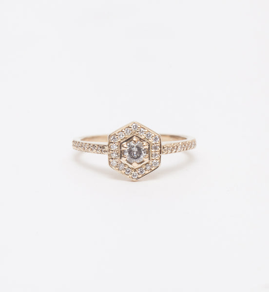 Mini Hex Engagement Ring
