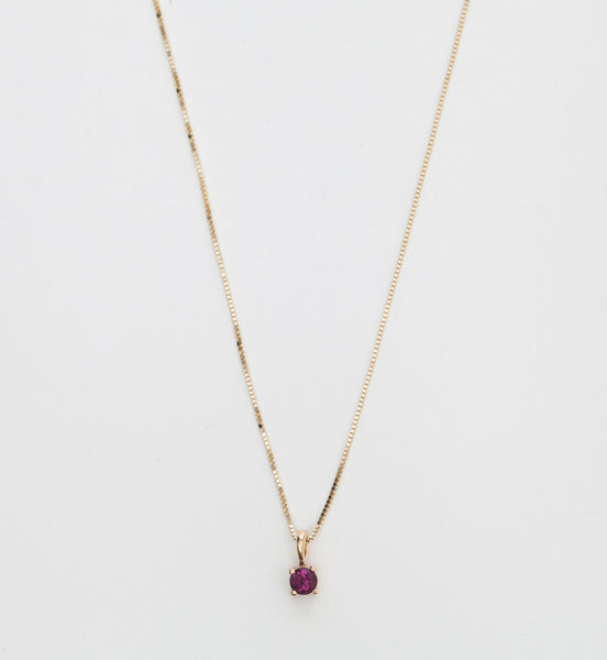 Garnet Element Necklace