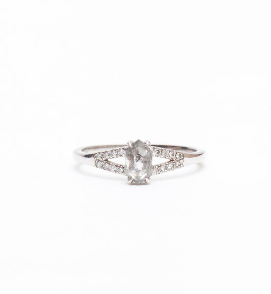 Hexagon Diamond Evie Ring