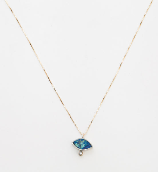 Azurite Geo Marquise Necklace