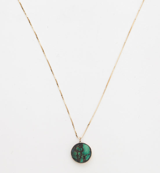 Peacock Turquoise Circ Necklace