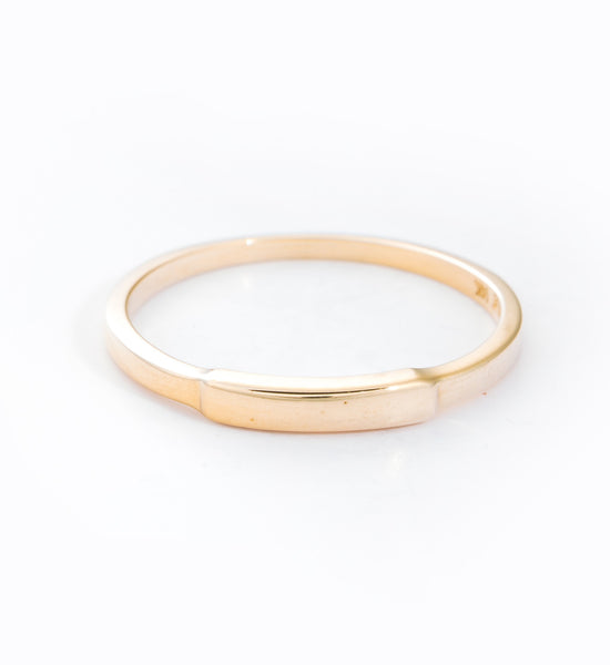 Gold Segment Ring: Front