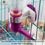 Pretty Purple Pet Water Dispenser Bottle by SunGrow