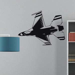 Fighting Falcon F16 from Below Designed Wall Sticker Aviation Shop