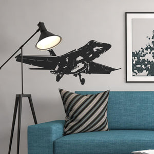 Amazing Military Aircraft on Departure Designed Wall Sticker Aviation Shop