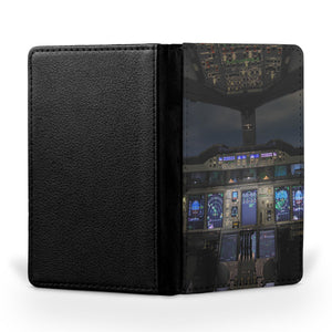 Airbus A380 Cockpit Printed Passport & Travel Cases