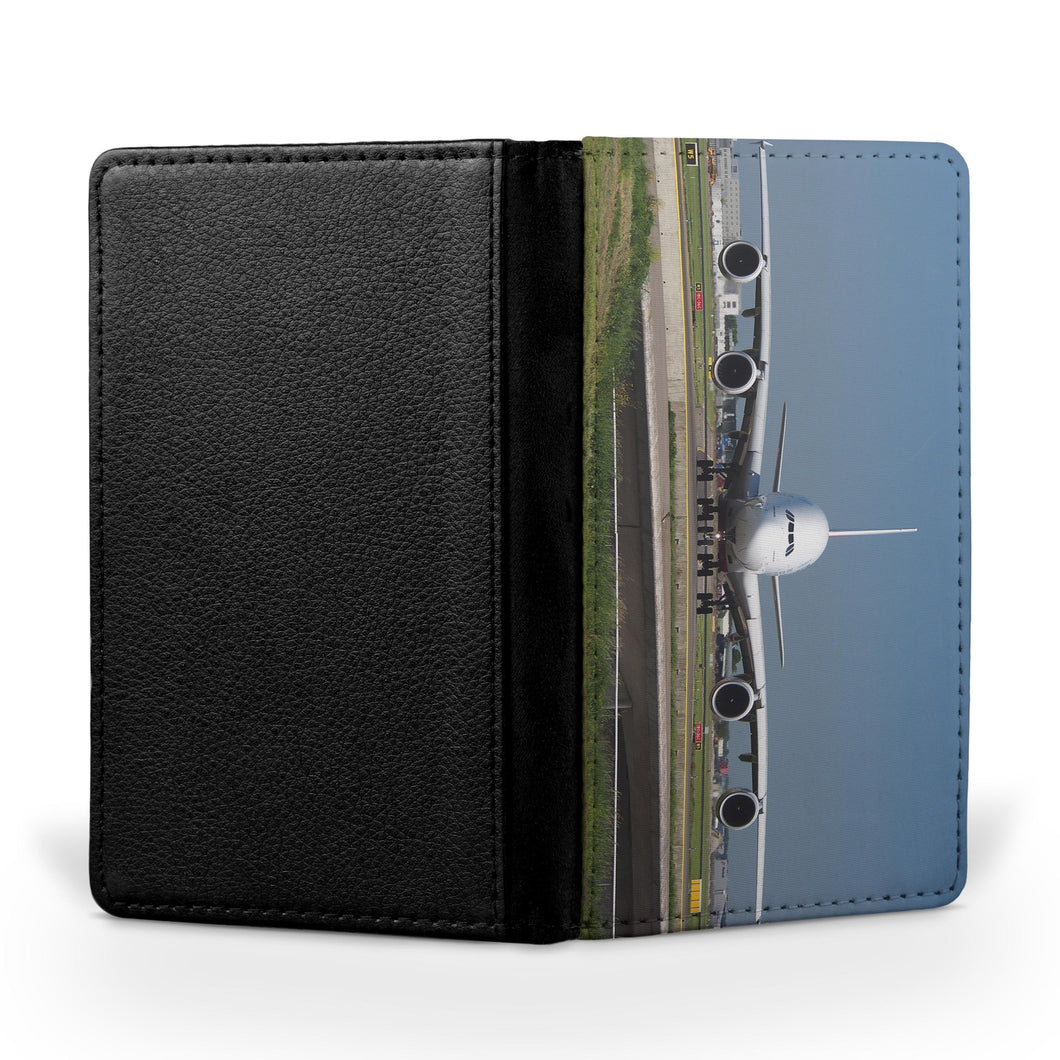 Face to Face with Airbus A380 Printed Passport & Travel Cases