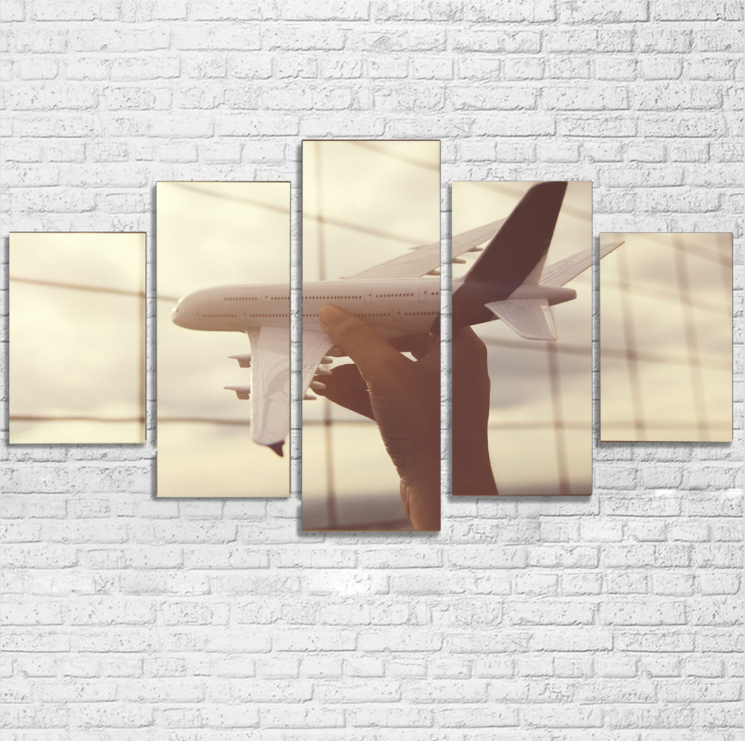 Follow Your Dreams Printed Multiple Canvas Poster Aviation Shop