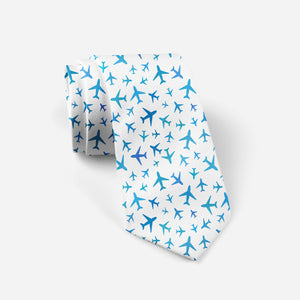 Many Airplanes (White) Designed Ties