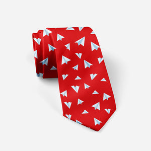 Paper Airplanes (Red) Designed Ties