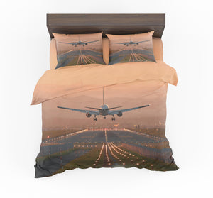 Super Cool Landing During Sunset Designed Bedding Sets