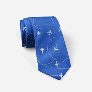 Travel The World By Plane (Blue) Designed Ties