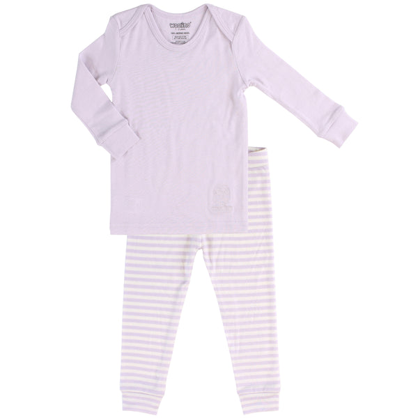 Pajamas, Long-sleeve, Merino Wool, 1-2 Years, Lilac - 2018 Model