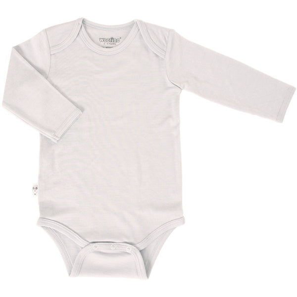 Baby Bodysuit, Long Sleeve, Merino Wool, Beige