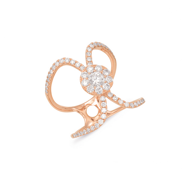 14kt Rose Gold Diamond Fashion Ring