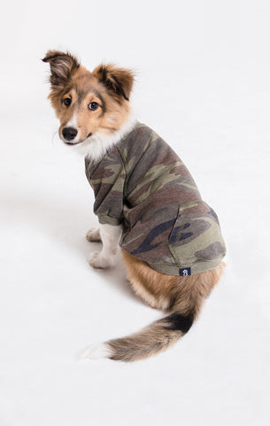 Dog Camo Burnout Pullover
