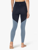 Plush angled high waisted midi legging in navy heather