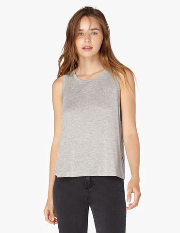 Balanced muscle tank in heather grey