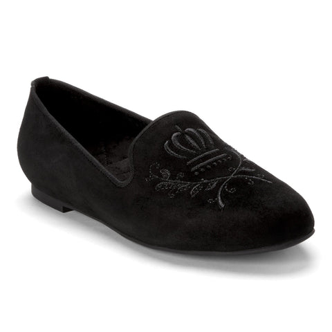 Romi suede loafer in black