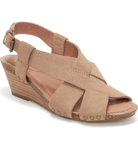 Tarin rosewood suede demi wedges