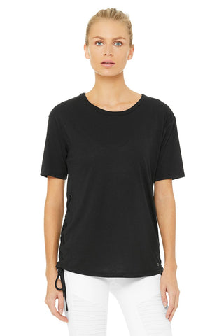 Bliss short sleeve tee in black