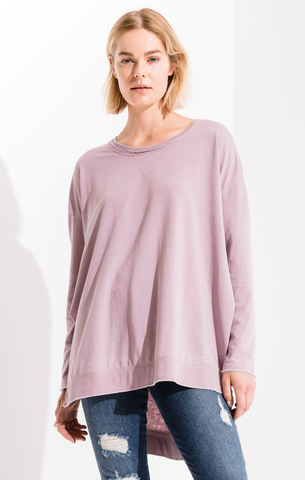 Weekender long sleeve top in mystic mauve