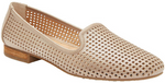 Yale champagne laser cut loafers