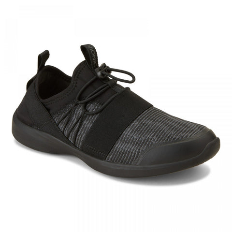 Alaina active black slip on sneakers